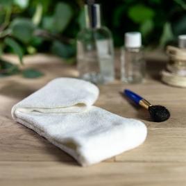 Bandeau de maquillage écru en bambou