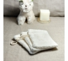 3 gants de toilette d'apprentissage en bambou