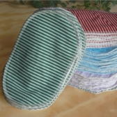 100 grandes lingettes lavables spéciales pour jumeaux ou plus, Fabrication Française par Petites Ailes