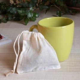 Sachet pour infusions en coton bio