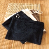 2 gants de toilette en bambou